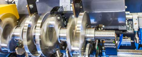 Balancing machines for crankshafts